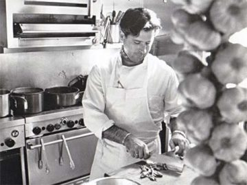 Van Aken in the MIRA kitchen in the late 80s. MIRA is where New World Cuisine started entering the spotlight. (Courtesy of Taylor Trade Publishing)