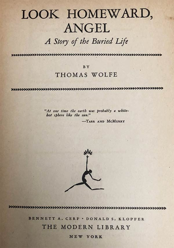 Look Homeward Angel, Thomas Wolfe